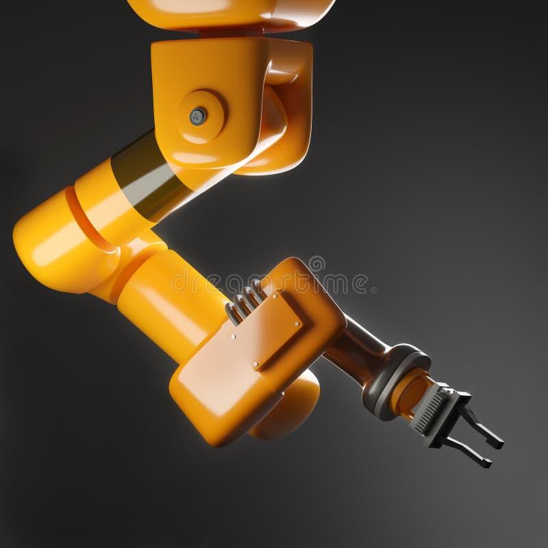 Автоматическая робототехническая продукция фабрики руки иллюстрация штока