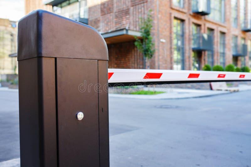 Автоматические барьер и система безопасности стоковое фото rf