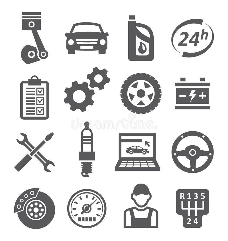 Автоматические значки обслуживания иллюстрация штока