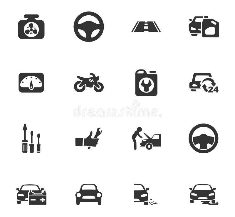 Автоматические установленные значки бесплатная иллюстрация