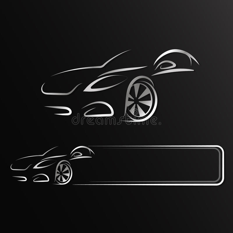 Автоматический дизайн для ренты иллюстрация вектора
