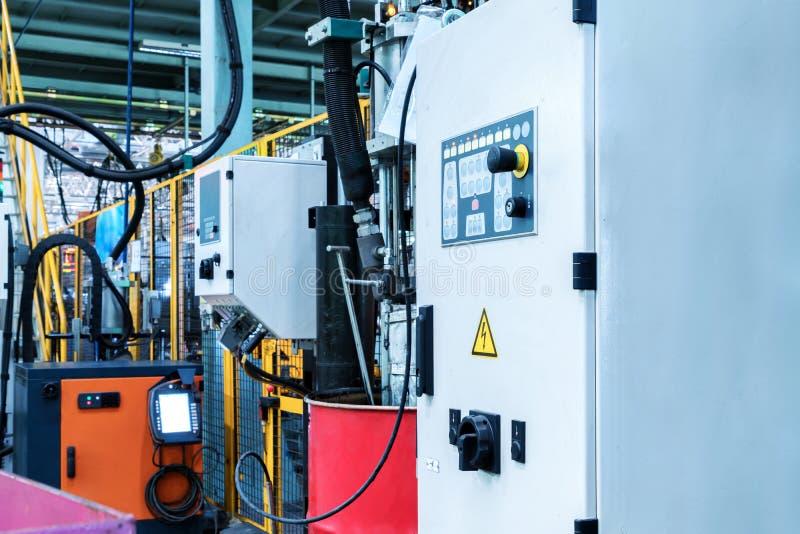Автоматический экран управлением робота продукции стоковое изображение