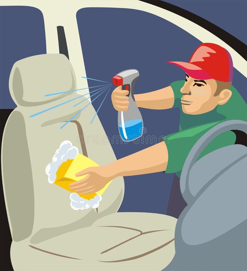 автоматическое мытье стула иллюстрация штока