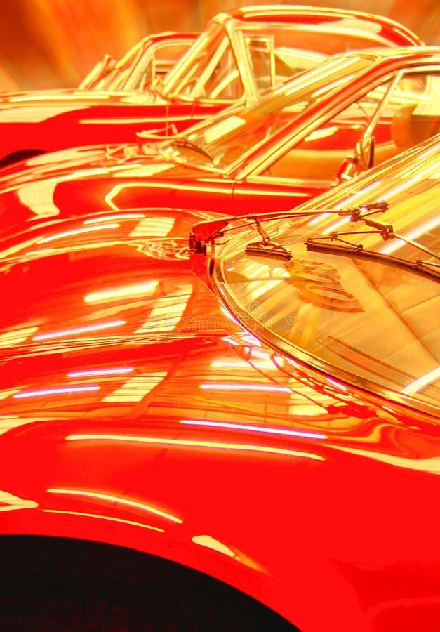 автомобили красные стоковая фотография rf