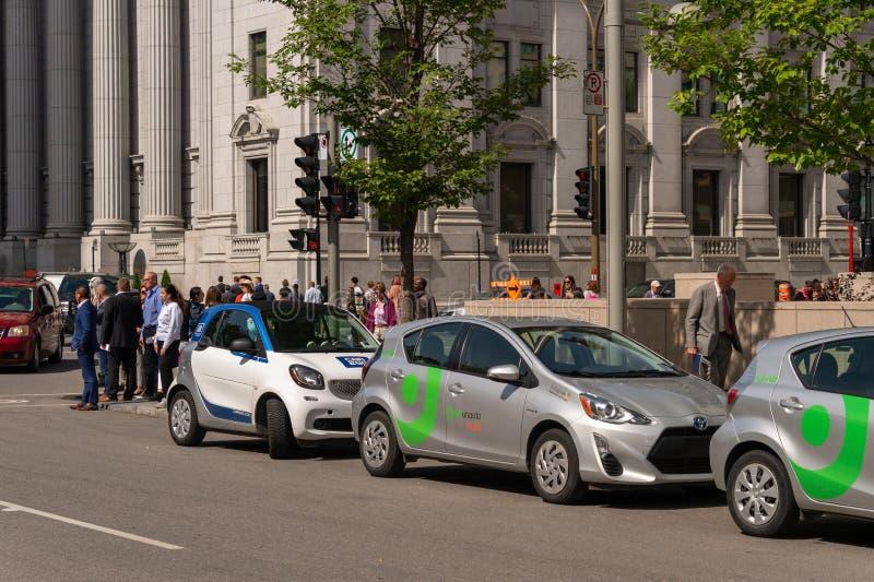 Автомобили Communauto Flex и Car2Go стоковые фото