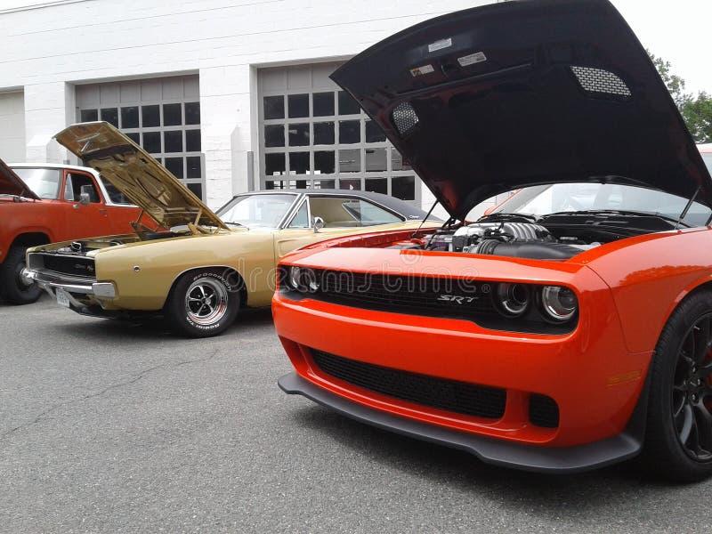 Автомобили Myssle ретро стоковые изображения