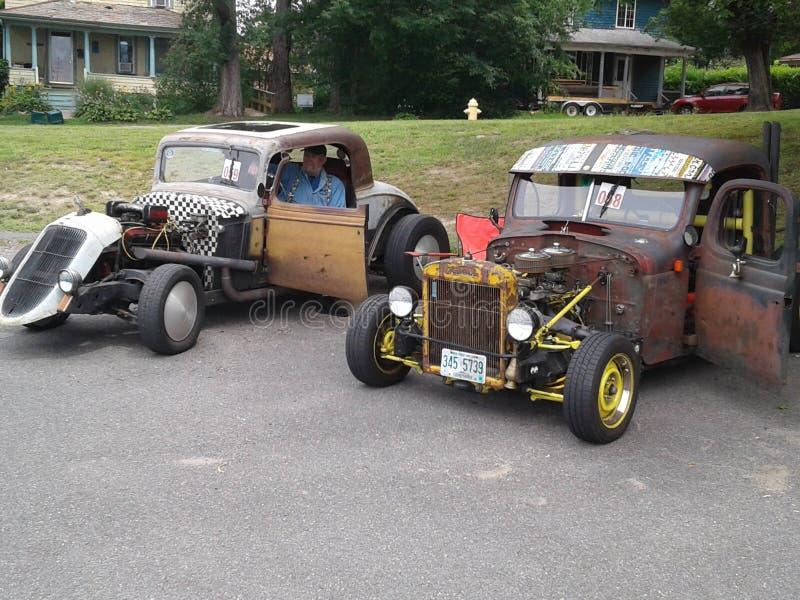 Автомобили Myssle ретро стоковое изображение rf