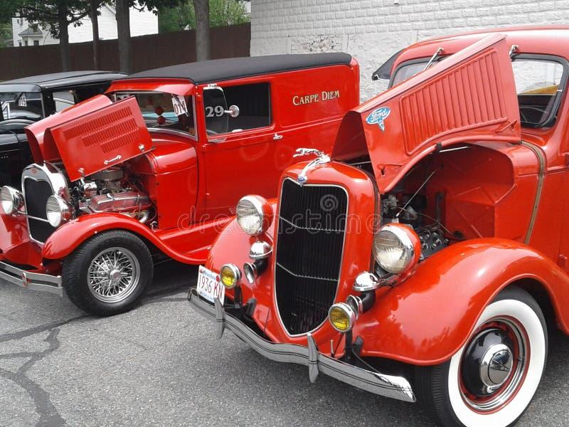 Автомобили Myssle ретро стоковые изображения rf