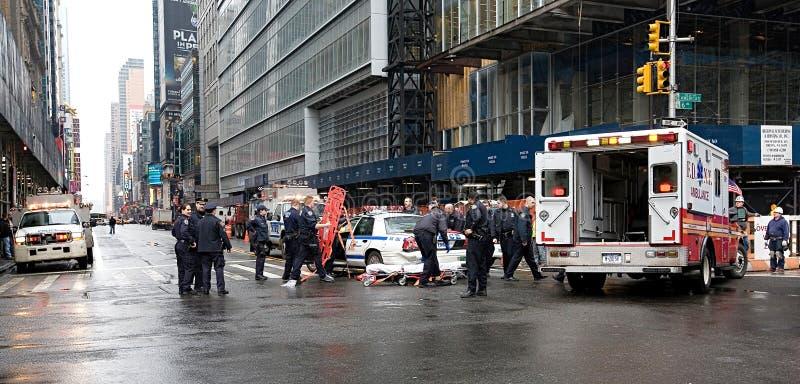 Автомобильная авария полицейской машины в Нью-Йорке стоковые изображения