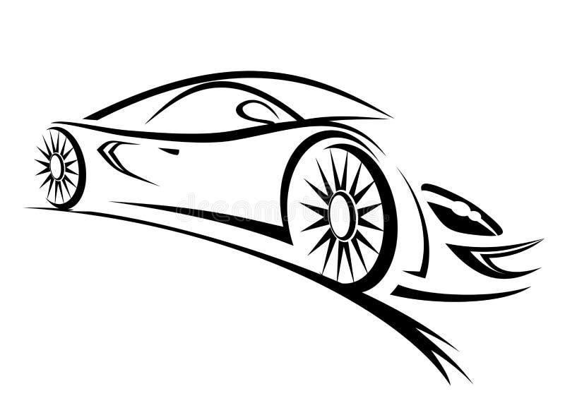 автомобильная гонка бесплатная иллюстрация