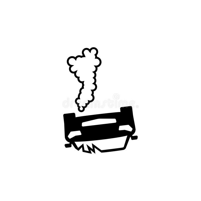 Автомобильная катастрофа, значок вектора аварии плоский бесплатная иллюстрация