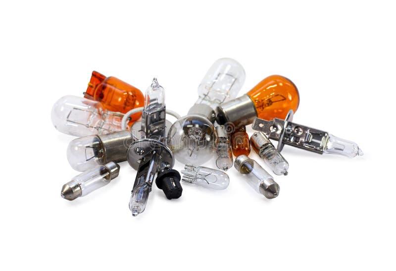 Автомобильные электрические лампочки ксенон галоид стоковые изображения rf