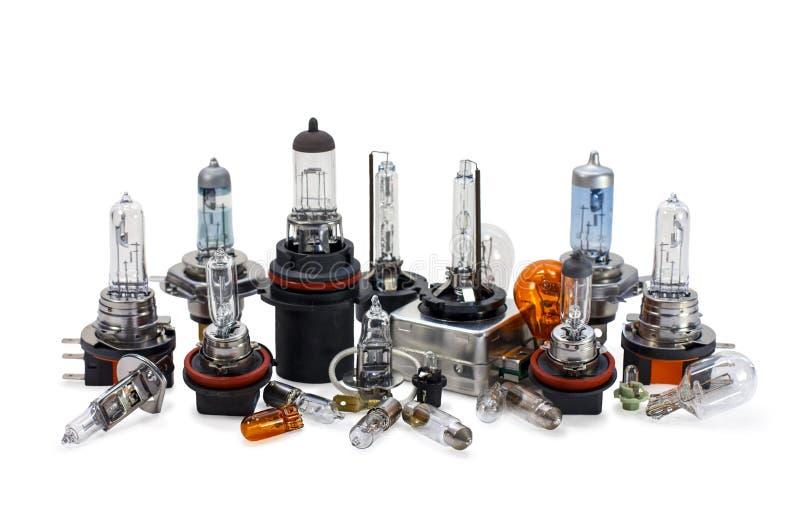 Автомобильные электрические лампочки ксенон галоид стоковая фотография rf