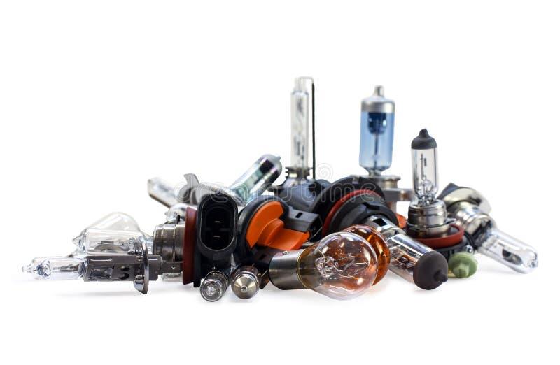 Автомобильные электрические лампочки ксенон галоид стоковое фото rf