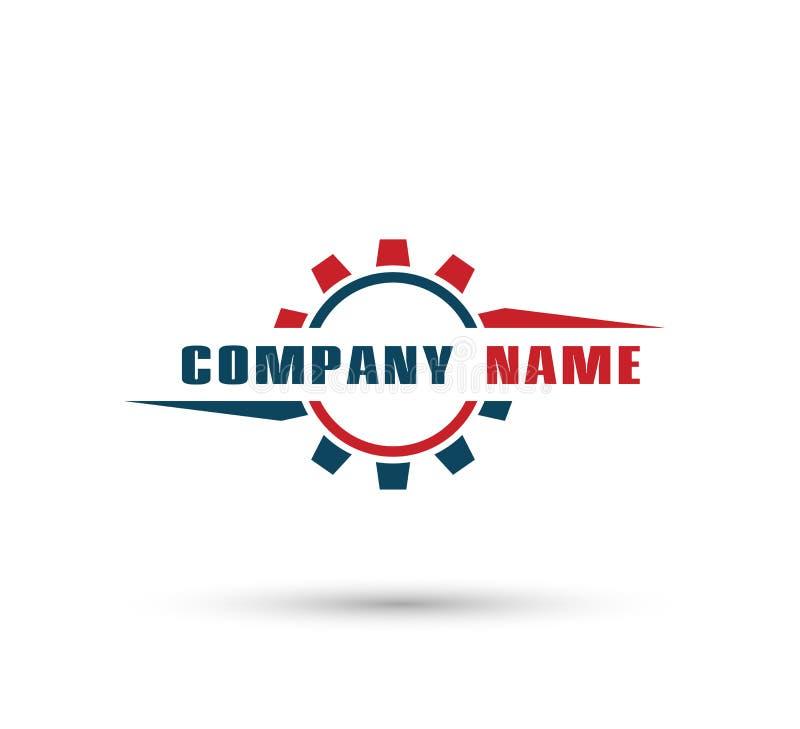 Автомобильный логотип шестерни, вектор колеса для вашего шаблона дизайна компании иллюстрация штока