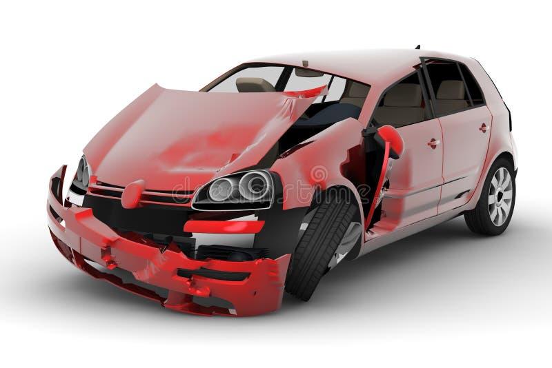 автомобиль аварии иллюстрация вектора