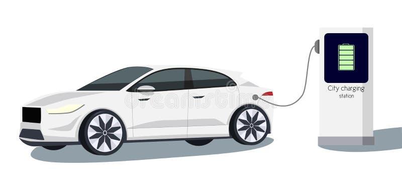 Автомобиль вектора электрический стоковая фотография