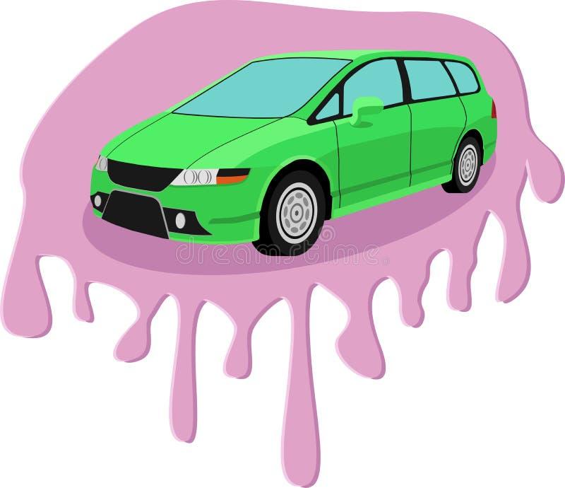 Автомобиль в пастельном цвете с шить влиянием стоковое изображение rf