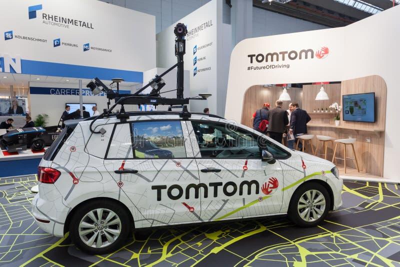 Автомобиль камеры TomTom на IAA 2017 стоковое изображение