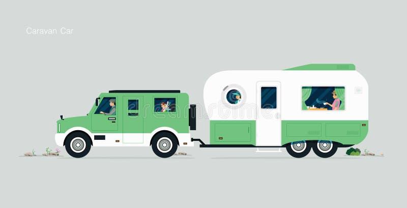 Автомобиль каравана бесплатная иллюстрация