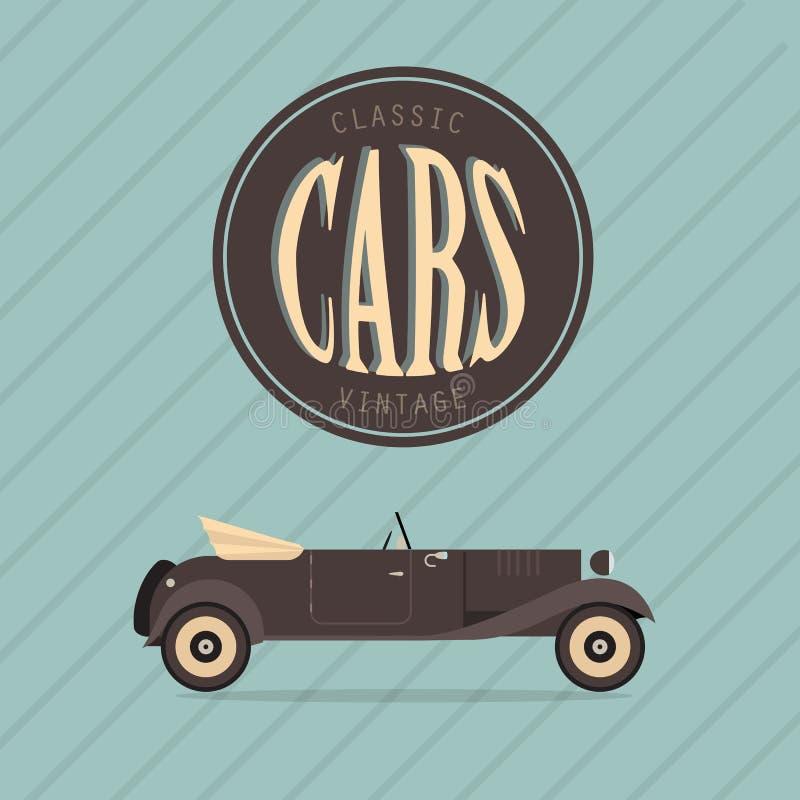 Автомобиль классики сбора винограда вектора иллюстрация вектора