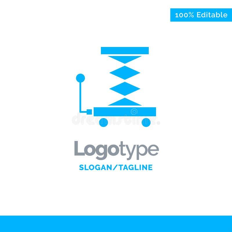 Автомобиль, конструкция, подъем, Scissor голубой твердый шаблон логотипа r бесплатная иллюстрация