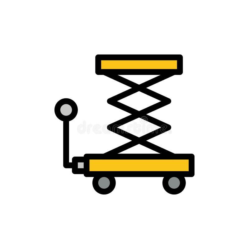 Автомобиль, конструкция, подъем, Scissor плоский значок цвета Шаблон знамени значка вектора бесплатная иллюстрация