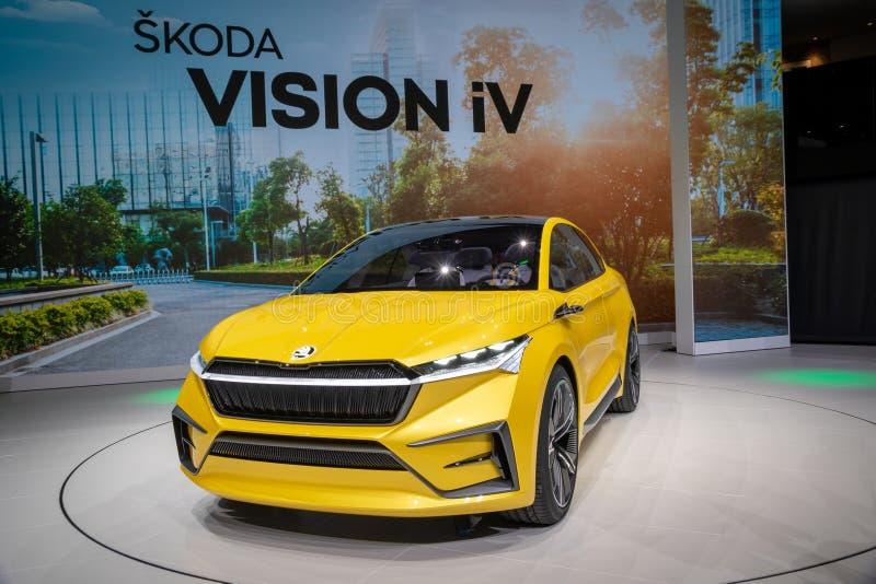 Автомобиль концепции iV зрения Skoda стоковая фотография