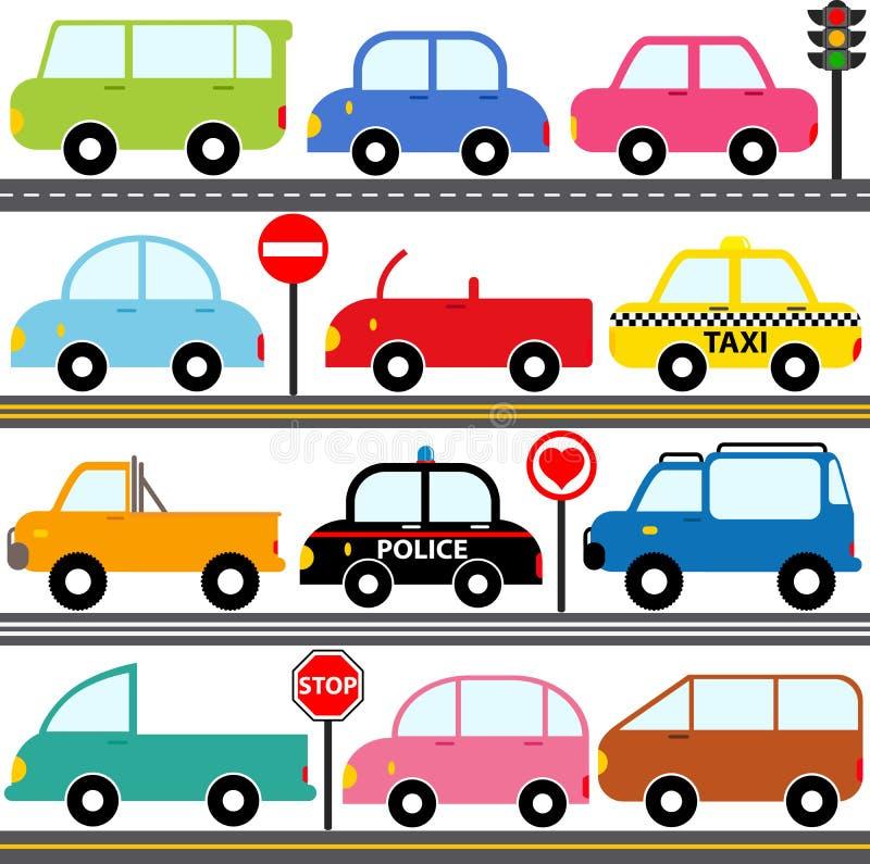 Автомобиль/корабли/перевозка иллюстрация штока