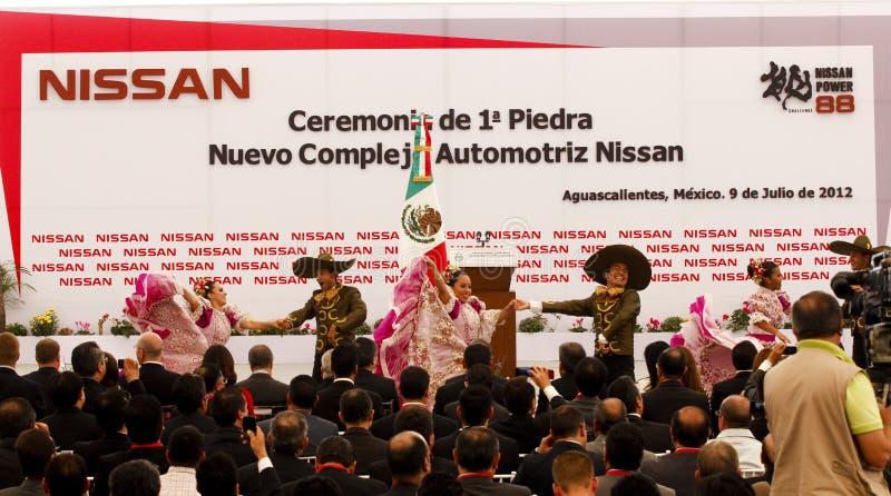 автомобиль Мексика новый nissan засаживает стоковое фото rf