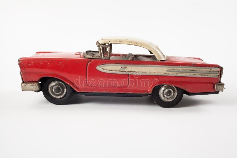 Автомобиль металла винтажной игрушки красный стоковые изображения rf