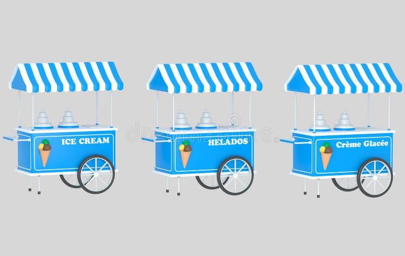 Автомобиль мороженого стоковая фотография