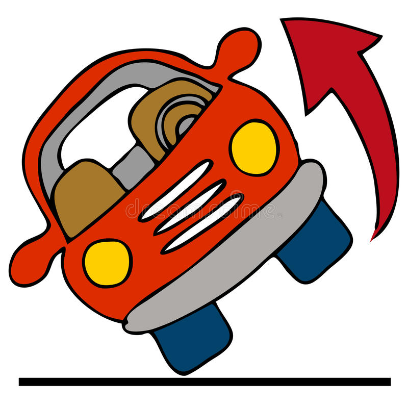 автомобиль над завальцовкой иллюстрация вектора