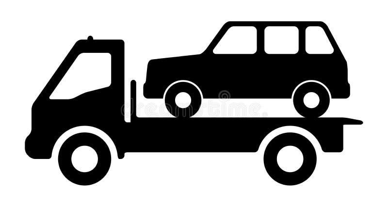 Автомобиль на эвакуаторе иллюстрация штока