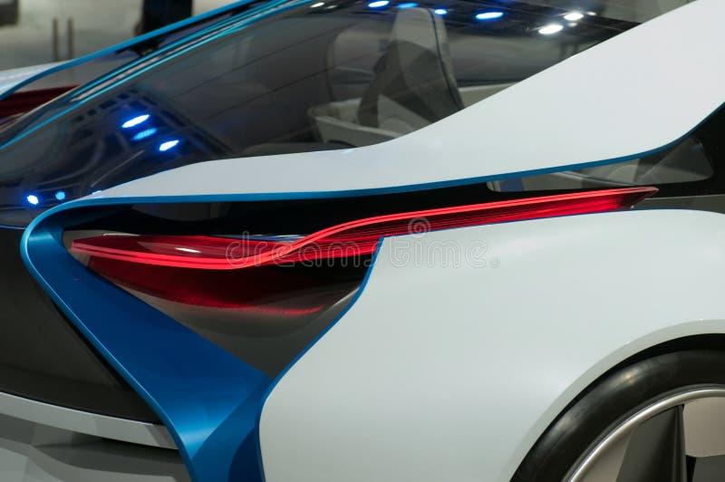 Автомобиль принципиальной схемы EfficientDynamics зрения BMW, деталь стоковые фото