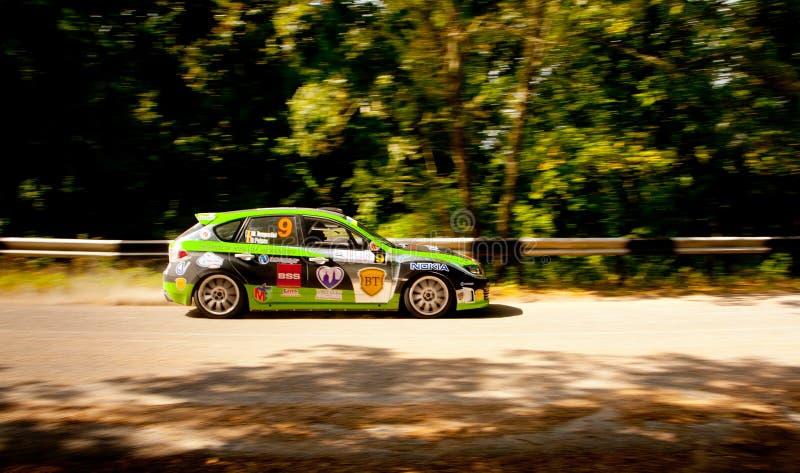 Автомобиль ралли impreza Subaru стоковая фотография rf