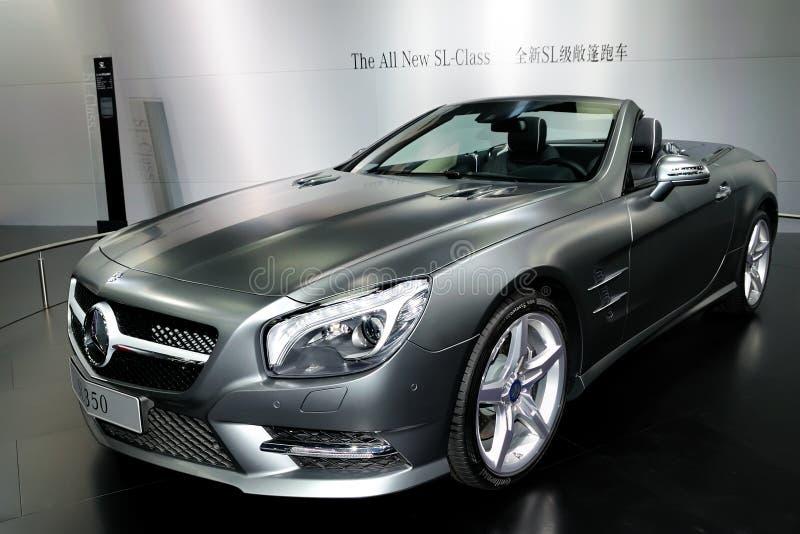 Автомобиль спортов SL-Class Мерседес-Benz обратимый стоковые изображения rf