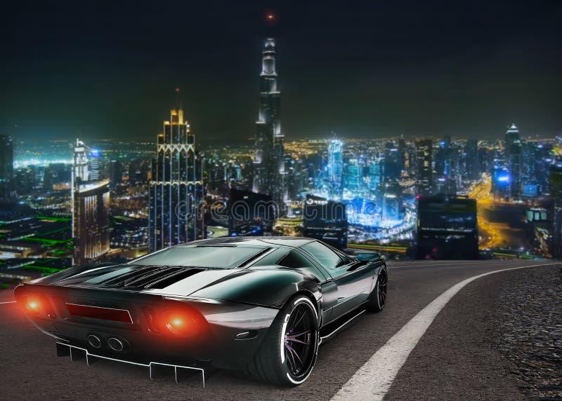 Автомобиль спорт на нашем шоссе стоковое изображение rf