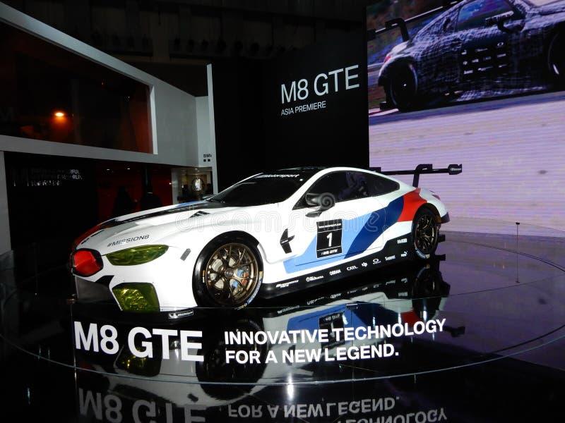 Автомобиль спорт GTE BMW M8 стоковые изображения rf