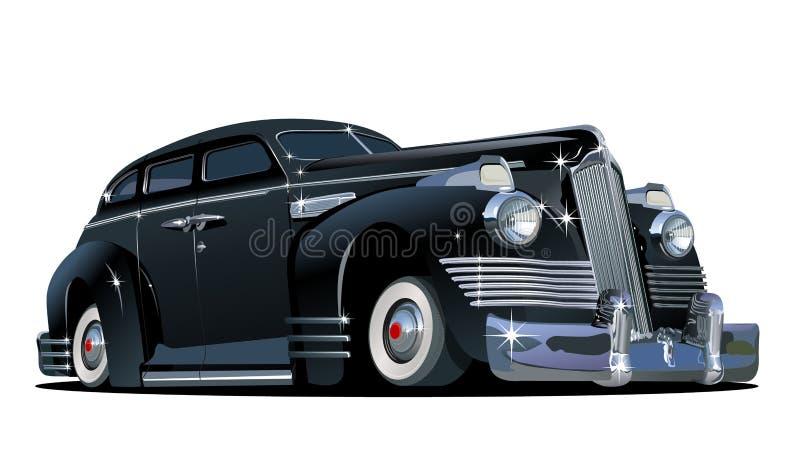 Автомобиль шаржа ретро иллюстрация штока
