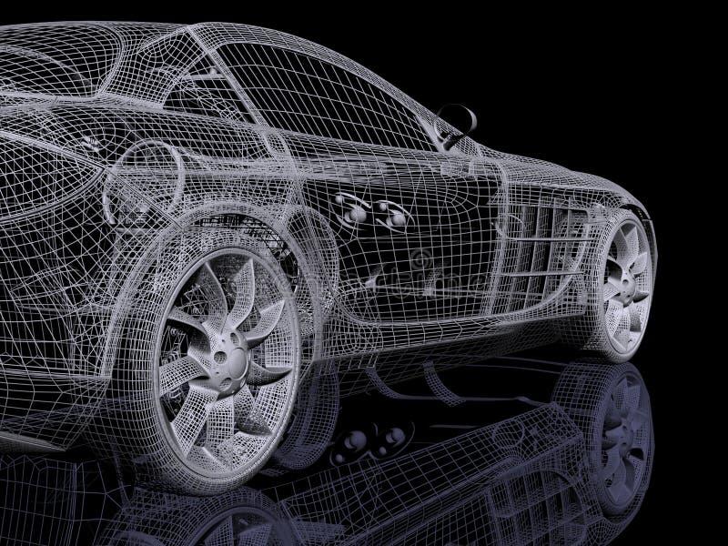 автомобиль 3d иллюстрация вектора