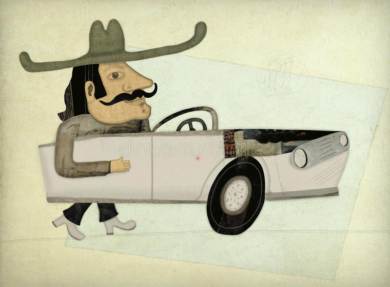 Автомобилистка иллюстрация вектора