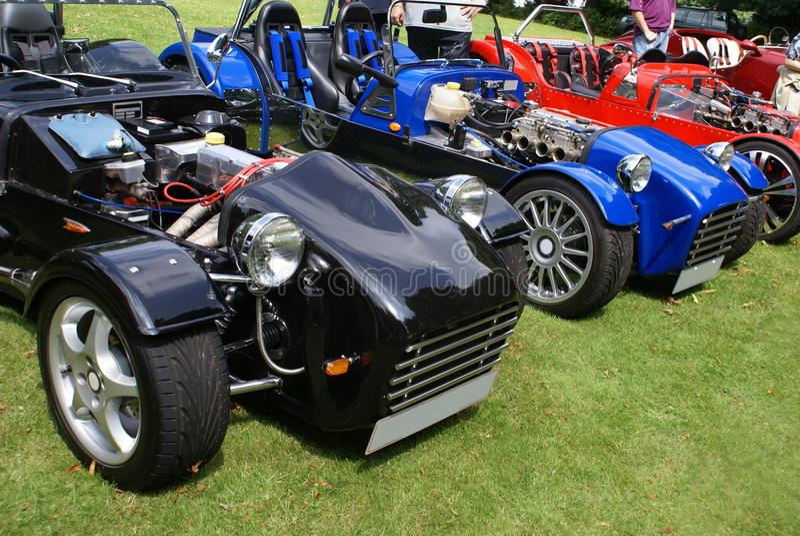 Автомобили набора DIY в выставке автомобиля стоковая фотография