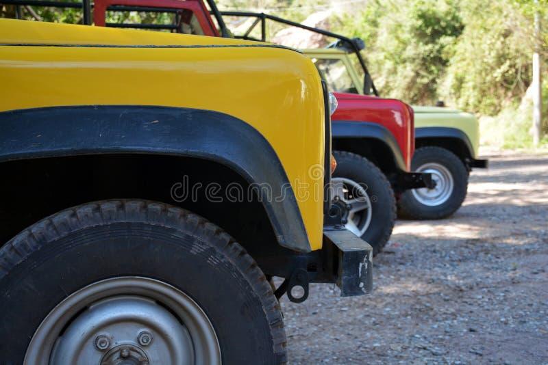 Автомобили сафари стоковые изображения rf