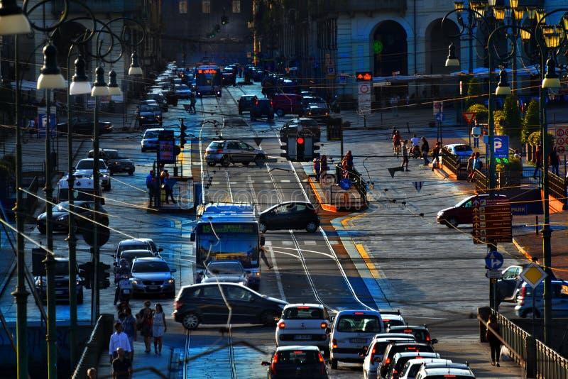 Автомобили Турина стоковое фото