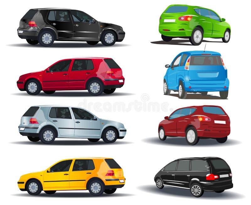 автомобили установили бесплатная иллюстрация