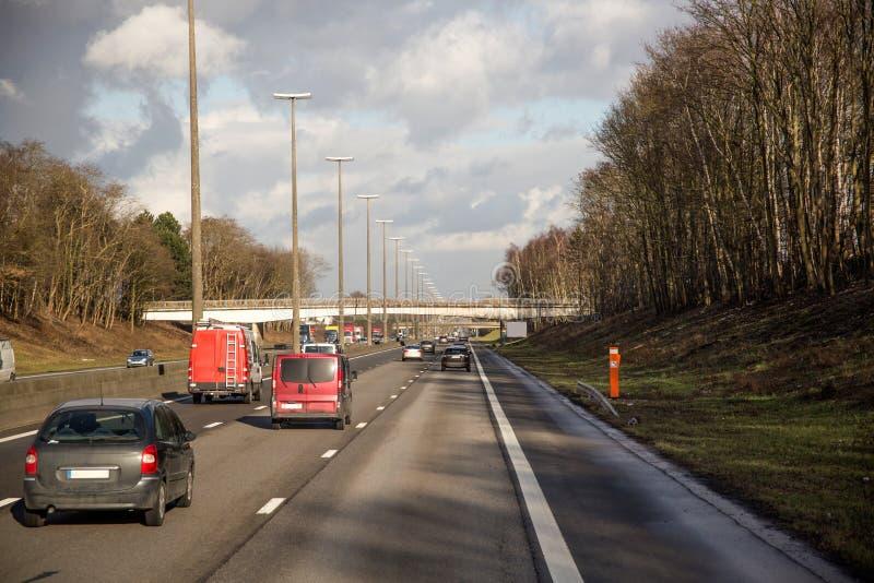 Автомобили шоссе стоковое фото rf