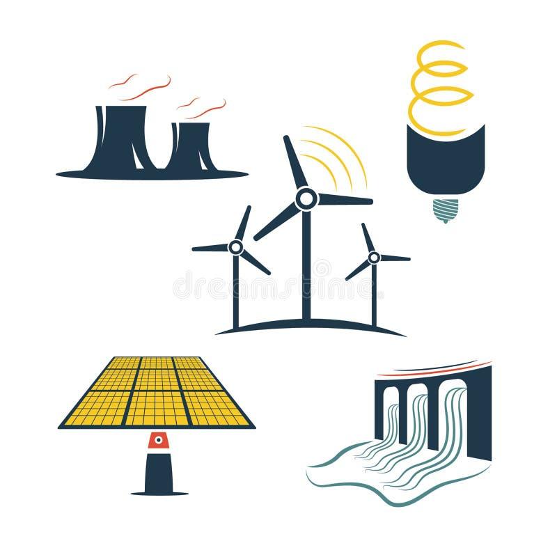 Автомобили энергетической промышленности иллюстрация штока