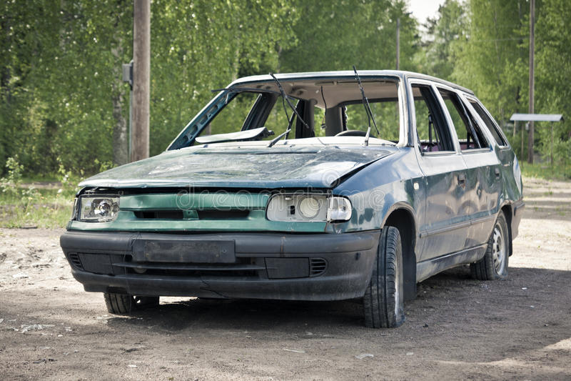 Автомобильная катастрофа стоковое изображение rf