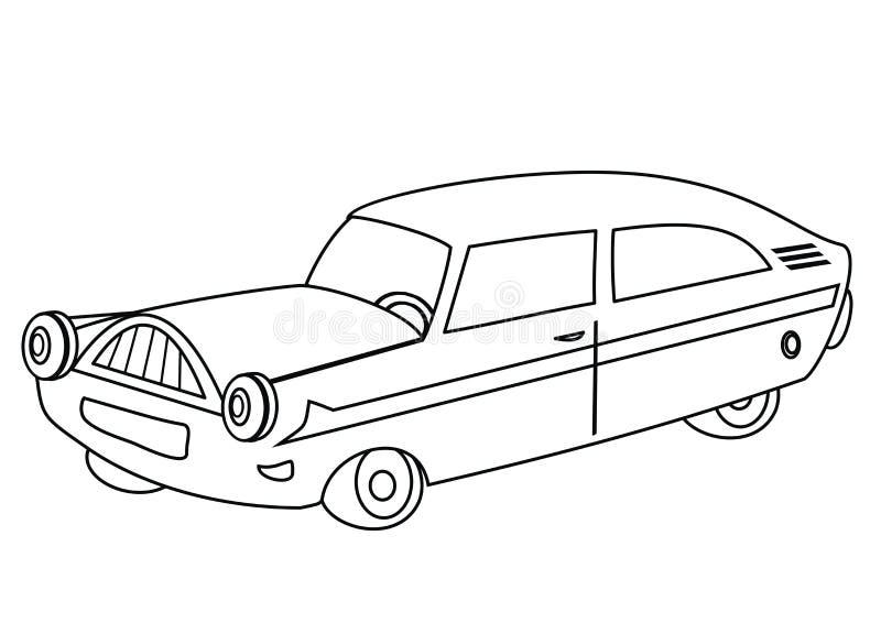 Автомобильная книжка-раскраска иллюстрация вектора